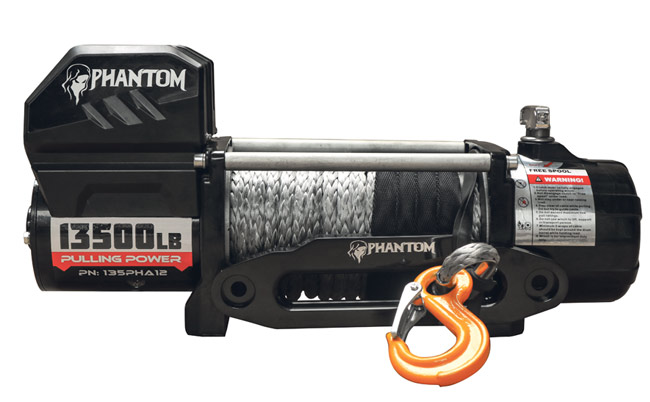 Phantom 13500 Electric Winch - Synthetic